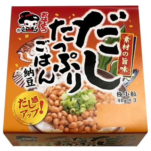 だしたっぷりごはん納豆極小粒ミニ3